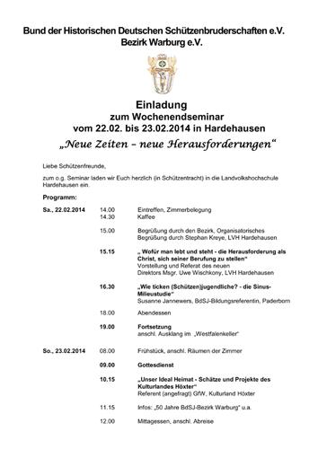 Wochenendseminar 2014
