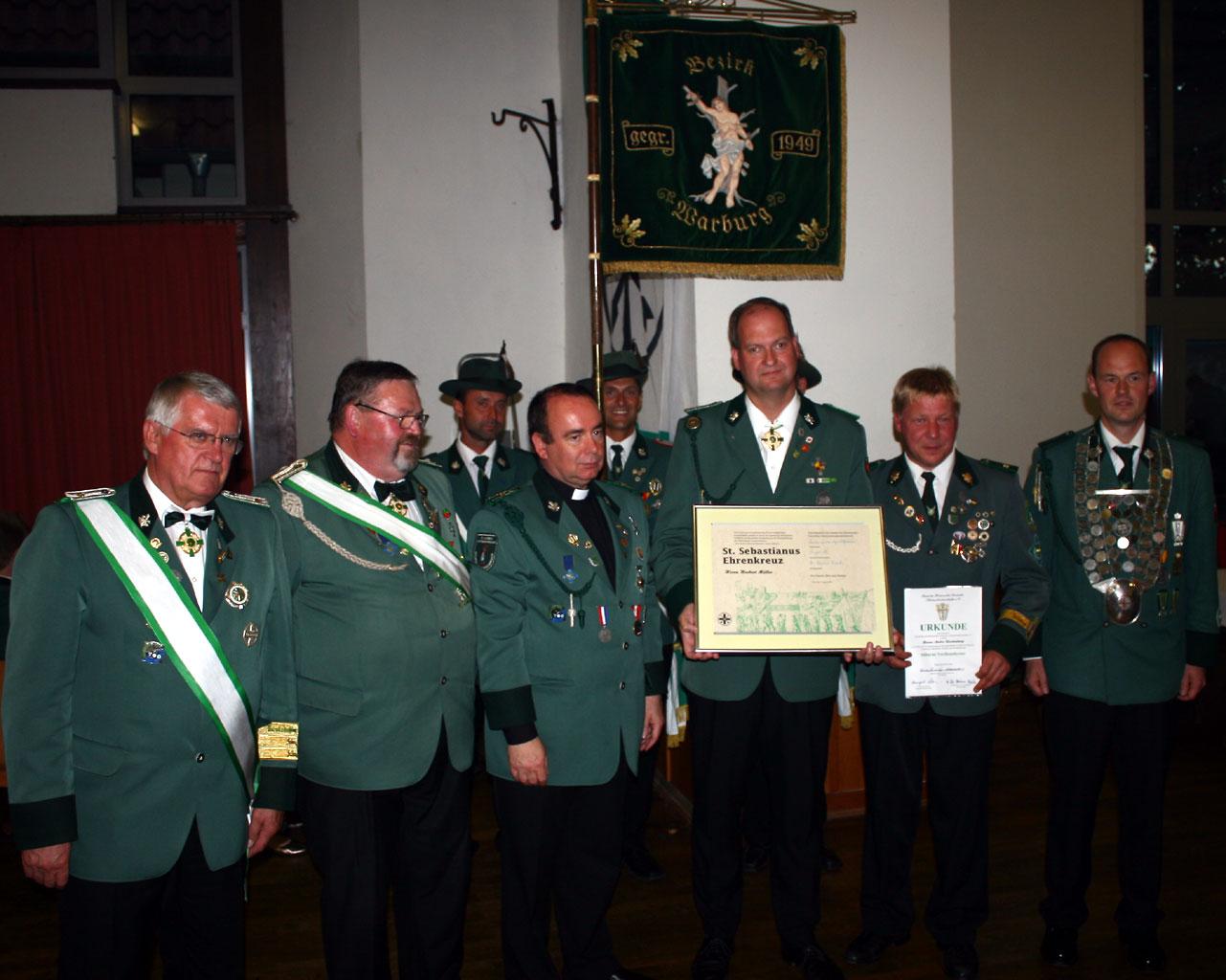 Bezirkskönig- und Prinzenschießen 2008 in Dringenberg