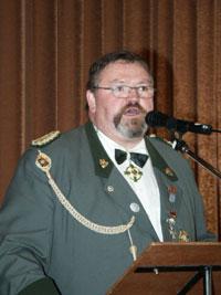 Bezirksbundesmeister Gerd Schlüter rief die Vorstände der Historischen Schützenbruderschaften zur Solidarität mit den Arbeitslosen auf.