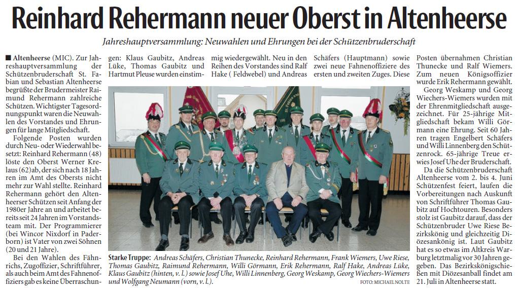 Neue Westfälische Nr. 19 vom 23. Januar 2012