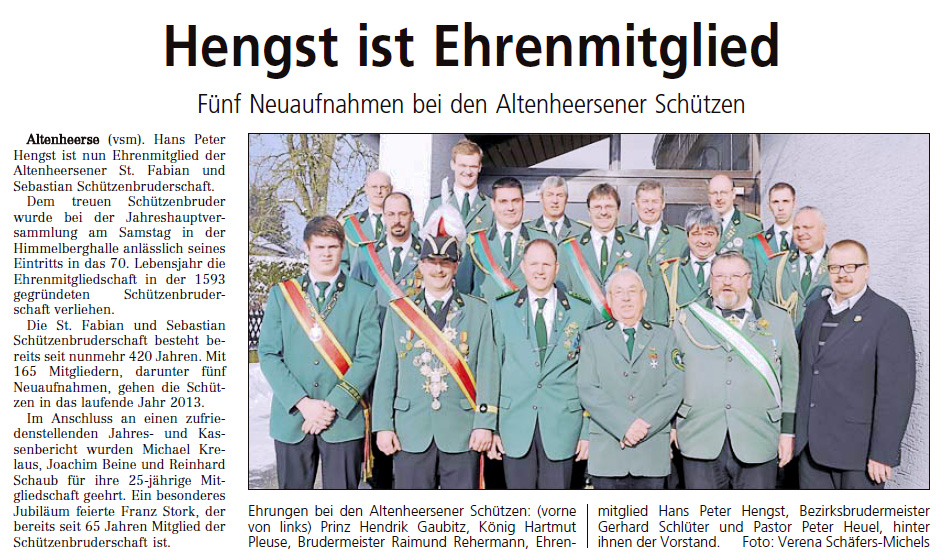 Bericht Westfalen-Blatt Nr. 23 vom 28.01.2013