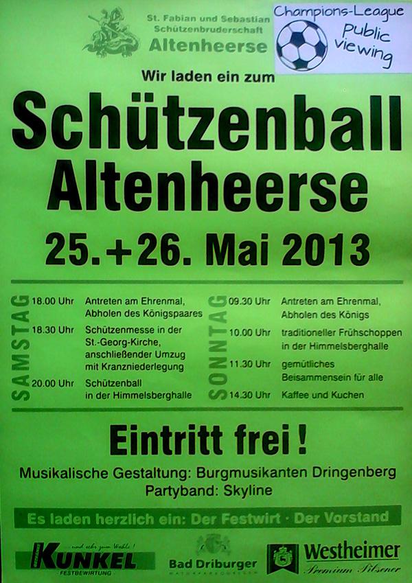Schützenball 2013 in Altenheerse